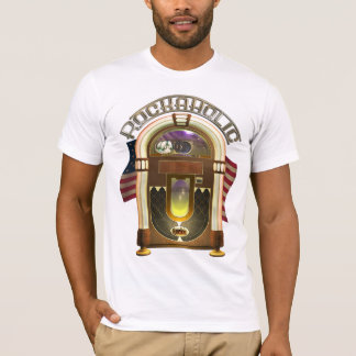 Camisa engraçada de Rockaholic T do jukebox