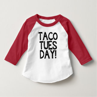 Camisa engraçada de terça-feira do Taco da criança Camiseta