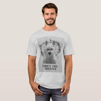 Camisa engraçada de Westie T - obedeça o Westie