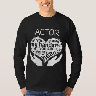 Camisa engraçada do ator. Presente para o pai/mãe
