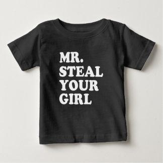 Camisa engraçada do bebé do Sr. Roubo Seu Menina