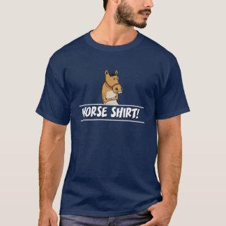 Camisa engraçada do cavalo