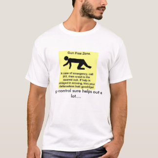 camisa engraçada do controlo de armas t
