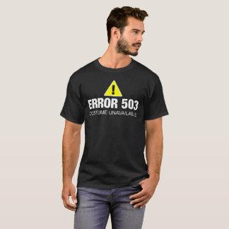 Camisa engraçada do Dia das Bruxas do erro para
