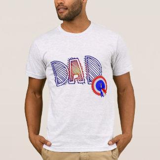 camisa engraçada do dia dos pais do número um do