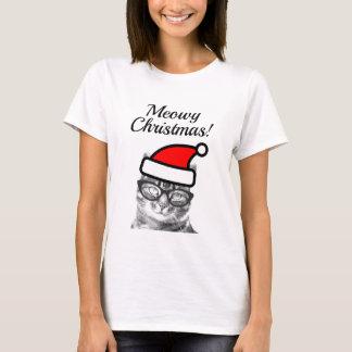 Camisa engraçada do feriado t do gato do papai