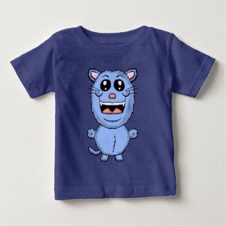 Camisa engraçada do gato azul dos desenhos