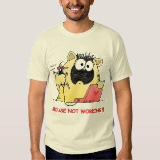 Camisa engraçada do gato e do rato T Camiseta