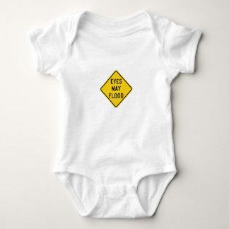 Camisa engraçada do jérsei do bebê - os olhos