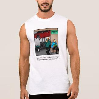 Camisa engraçada do músculo do humor do auto