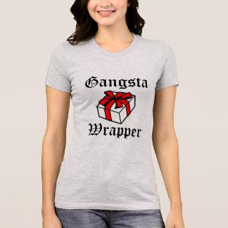 Camisa engraçada do Natal do envoltório de Gangsta
