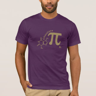 Camisa engraçada do Pi do chocolate