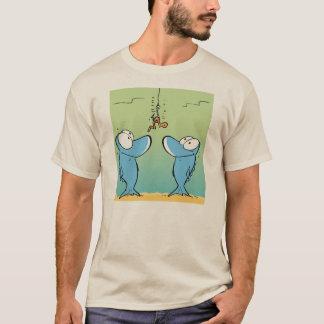 Camisa engraçada dos desenhos animados da pesca