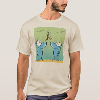Camisa engraçada dos desenhos animados da pesca camiseta