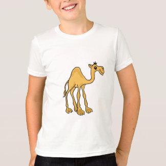 Camisa engraçada dos desenhos animados do camelo