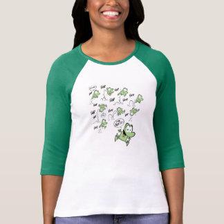 Camisa engraçada dos desenhos animados do sapo tshirt