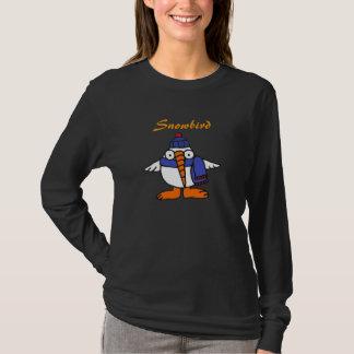 Camisa engraçada dos desenhos animados do Snowbird