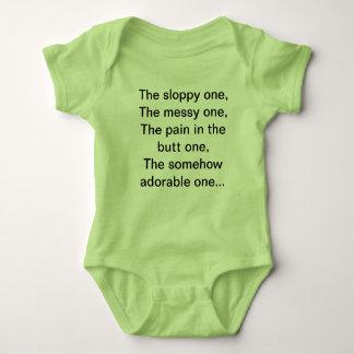 camisa engraçada para sua bebé ou menina