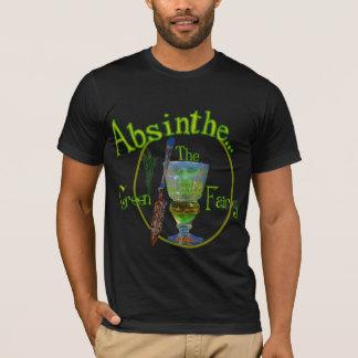 Camisa escura da fada do verde do absinto