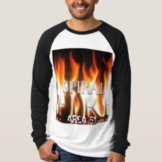 Camisa espiral do FÃ do fogo