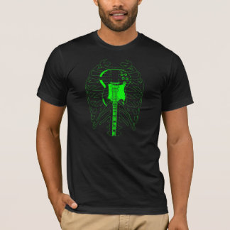 Camisa esqueletal da guitarra