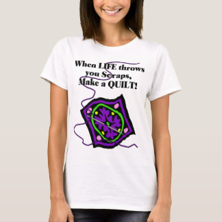 Camisa estofando de T - a vida joga-o