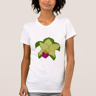 Camisa esverdeado da tartaruga de mar da orquídea t-shirt
