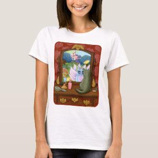 Camisa feericamente da arte da fantasia do espelho