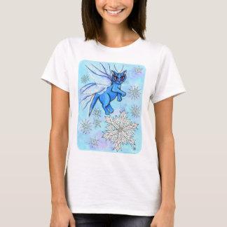 Camisa feericamente da arte da neve do gato do