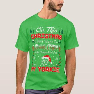 Camisa feia da camisola do Natal de Yorkie do