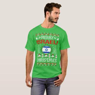 Camisa feia da camisola do Natal israelita alegre
