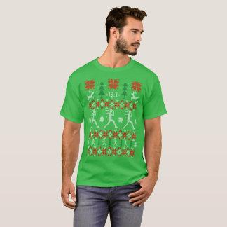 Camisa feia do Natal do ano novo da maratona do