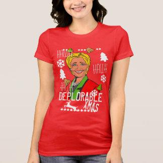 Camisa feia vermelha do Natal de Hillary Clinton,