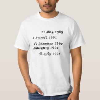 Camisa feita sob encomenda da data aprazada da
