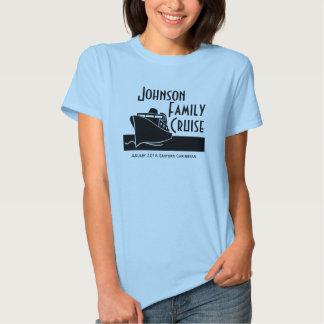 Camisa feita sob encomenda do cruzeiro da família t-shirt
