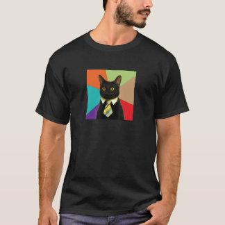 Camisa feita sob encomenda do gato do negócio