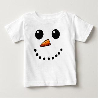 Camisa feliz da cara do boneco de neve