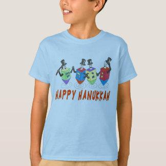 Camisa feliz de Hanukkah Dreidels t
