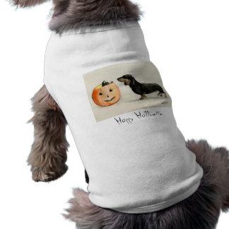 Camisa feliz do animal de estimação do gato preto  camisa sem mangas para cachorro