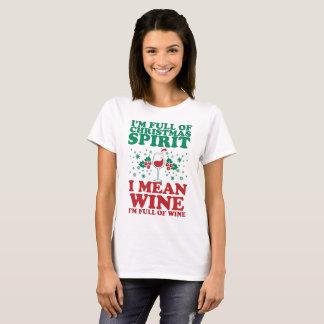 Camisa festiva engraçada do vinho do feriado do