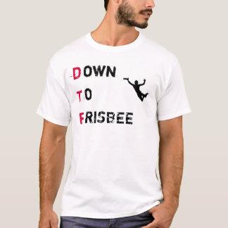 Camisa final de DTF (para baixo ao Frisbee)