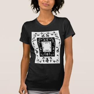 Camisa floral da videira do vintage