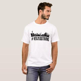Camisa forte do branco T de Vegas