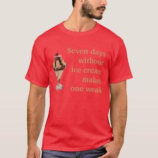 Camisa fraca do sorvete