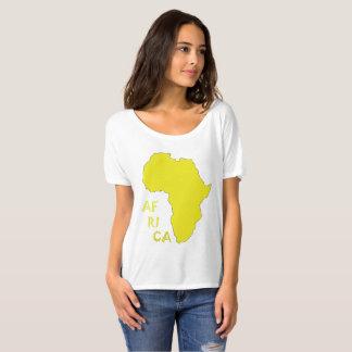 Camisa Funky do mapa de África