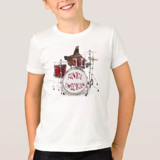 Camisa FUNKY engraçada do BATERISTA da GALINHA Camiseta