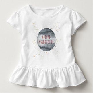 Camisa futura da menina T da criança do astrónomo