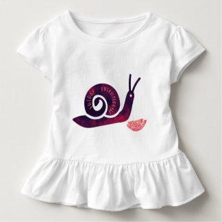 Camisa futura das meninas da criança do caracol do