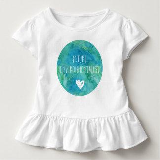 Camisa futura das meninas T da criança do