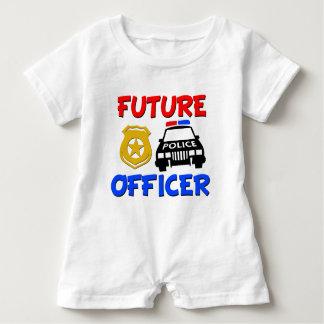 Camisa futura do bebé do agente da polícia